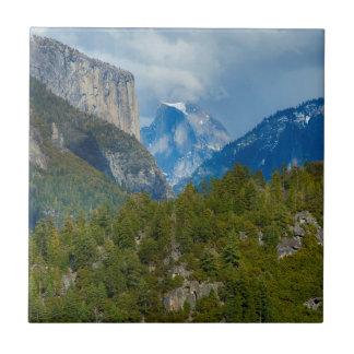 USA, California. View Of Half Dome In Yosemite Tile