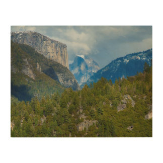 USA, California. View Of Half Dome In Yosemite Wood Canvas