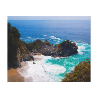 USA, California. View Of Mcway Falls Stretched Canvas Prints