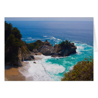 USA, California. View Of Mcway Falls Card