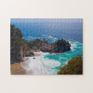 USA, California. View Of Mcway Falls Jigsaw Puzzle