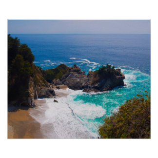 USA, California. View Of Mcway Falls Poster