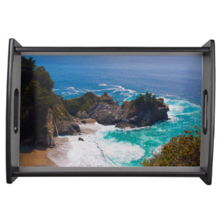 USA, California. View Of Mcway Falls Serving Tray