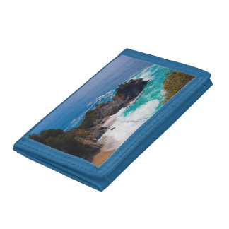 USA, California. View Of Mcway Falls Tri-fold Wallet