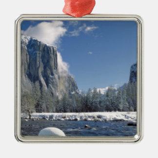 USA, California, Yosemite NP. The Merced River, Christmas Ornament