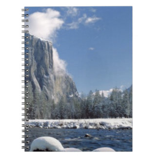 USA, California, Yosemite NP. The Merced River, Notebook