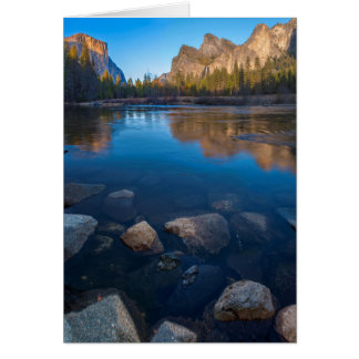 USA, California. Yosemite Valley View 2 Card
