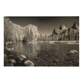 USA, California. Yosemite Valley View Wood Canvases