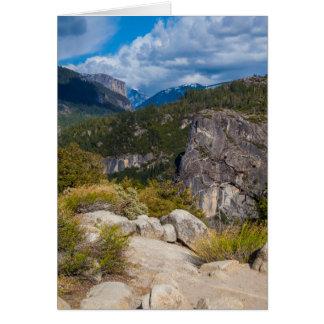 USA, California. Yosemite Valley Vista 2 Card