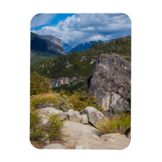 USA, California. Yosemite Valley Vista 2 Magnet