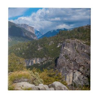 USA, California. Yosemite Valley Vista 2 Tile