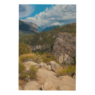 USA, California. Yosemite Valley Vista 2 Wood Wall Decor
