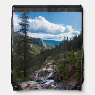 USA, California. Yosemite Valley Vista Drawstring Bag