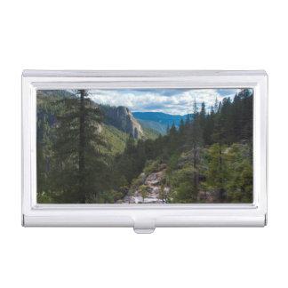 USA, California. Yosemite Valley Vista Business Card Holder