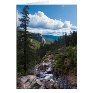 USA, California. Yosemite Valley Vista Card