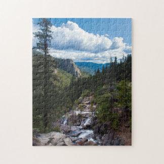 USA, California. Yosemite Valley Vista Jigsaw Puzzle