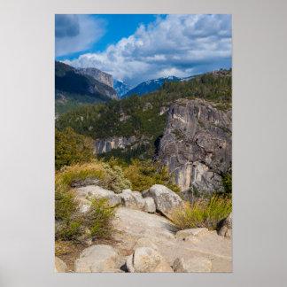 USA, California. Yosemite Valley Vista Poster