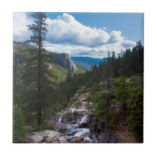 USA, California. Yosemite Valley Vista Tile