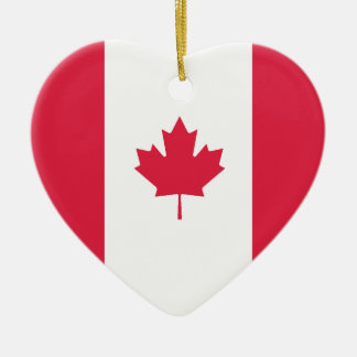USA & Canada Flag Heart Ornament