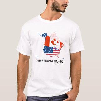 USA Canada Flag Map T-shirt