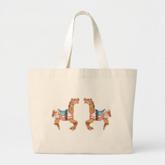 USA Carousel Horses Large Tote Bag