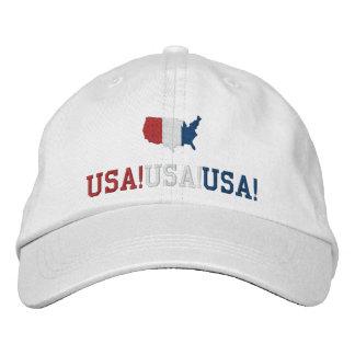 USA Chant Patriotic Sports Baseball Cap