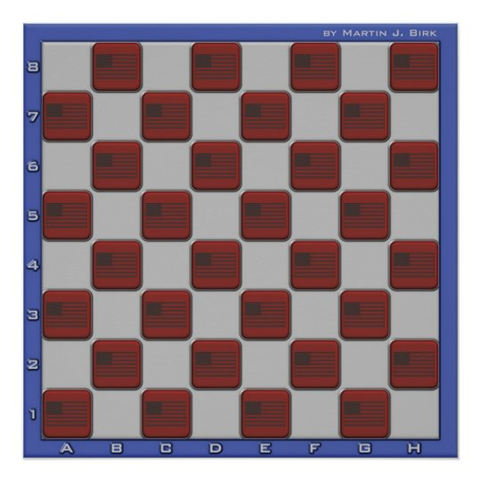 USA Chess Board Poster