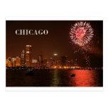 USA Chicago Fireworks (new) (St.K) Postcard