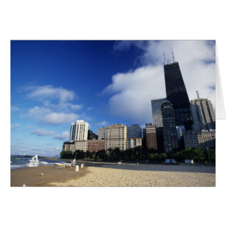 USA, Chicago, Illinois, Oak Street Beach and Card