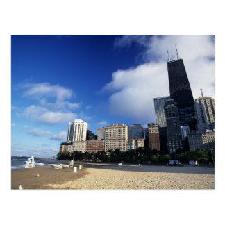 USA, Chicago, Illinois, Oak Street Beach and Postcard