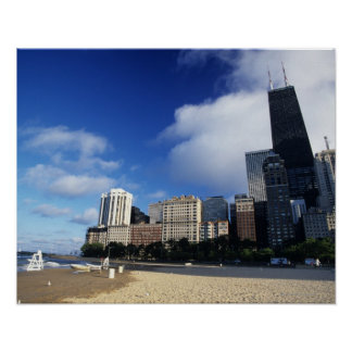 USA, Chicago, Illinois, Oak Street Beach and Poster