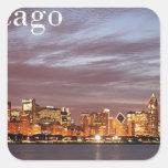 USA Chicago Skyline (add) (St.K) Square Stickers