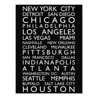 USA Cities Bus Roll Art Photo