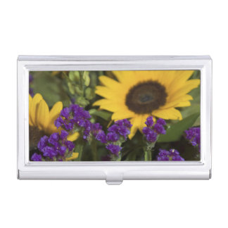 USA, close-up of bridal flower arrangement, Business Card Holder