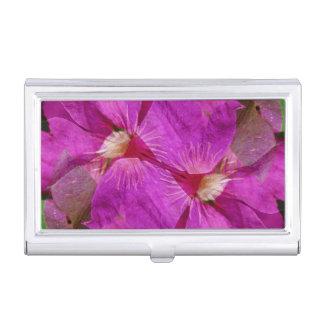 USA, Colorado, Boulder. Clematis flower montage Business Card Holder