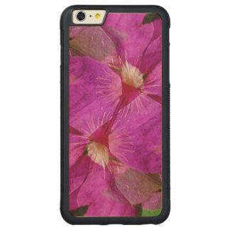 USA, Colorado, Boulder. Clematis flower montage Carved Maple iPhone 6 Plus Bumper Case