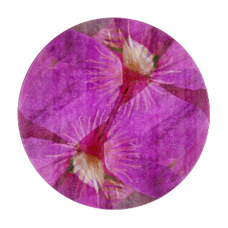 USA, Colorado, Boulder. Clematis flower montage Cutting Board