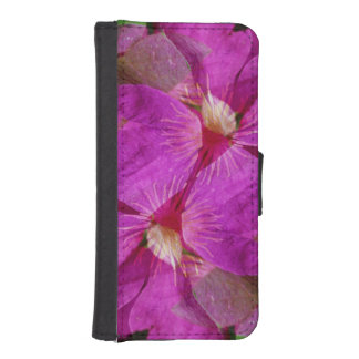 USA, Colorado, Boulder. Clematis flower montage iPhone SE/5/5s Wallet Case