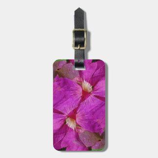 USA, Colorado, Boulder. Clematis flower montage Luggage Tag