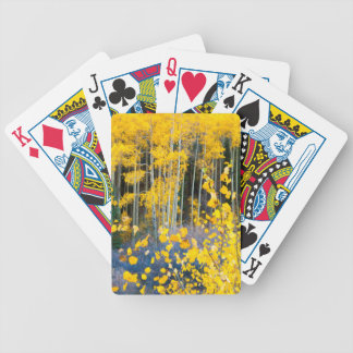 USA, Colorado. Bright Yellow Aspens In Rockies 2 Bicycle Playing Cards