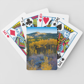 USA, Colorado. Bright Yellow Aspens in Rockies Bicycle Playing Cards