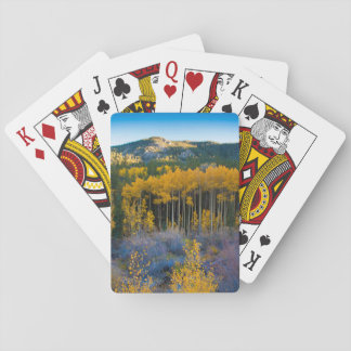 USA, Colorado. Bright Yellow Aspens in Rockies Playing Cards