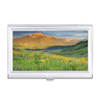 USA, Colorado, Crested Butte. Landscape 3 Business Card Holder