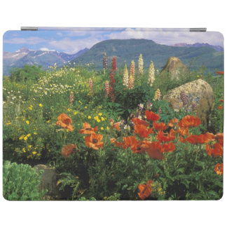 USA, Colorado, Crested Butte. Poppies and lupine iPad Cover
