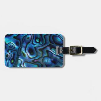 USA, Colorado, Lafayette. Abalone shell Bag Tag