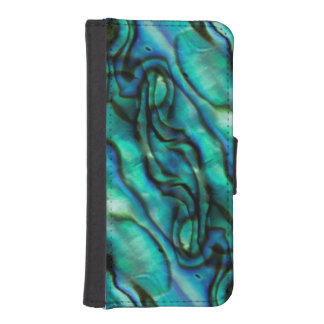 USA, Colorado, Lafayette. Abalone shell montage iPhone SE/5/5s Wallet Case