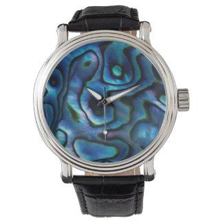 USA, Colorado, Lafayette. Abalone shell Wrist Watch
