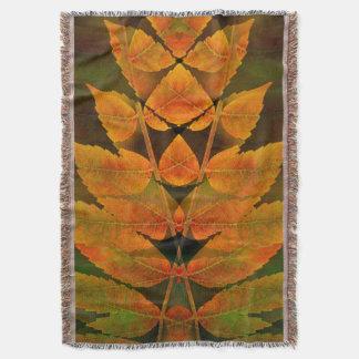 USA, Colorado, Lafayette. Autumn sumac montage Throw Blanket