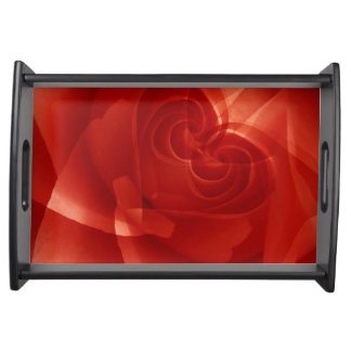 USA, Colorado, Lafayette. Red rose montage Serving Tray