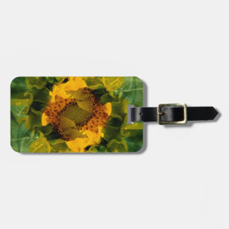 USA, Colorado, Lafayette. Sunflower montage Bag Tag
